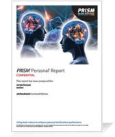 PRISM Brain Mapping Sample Reports for Individual Self Awareness
