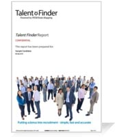 PRISM Talent Finder Sample Report