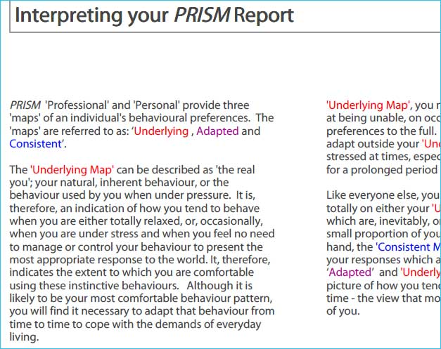 prism brain mapping Education Self Awareness